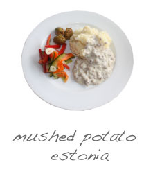mushed potato
